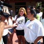 Sandra Argueta interviewed by Univision